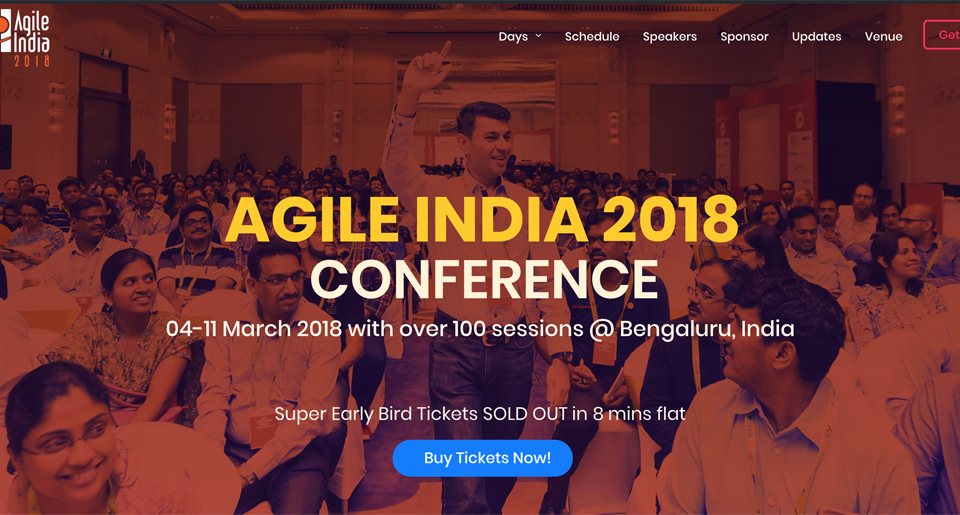 Where are my usual Agile topics at the Agile India 2018 Conference?