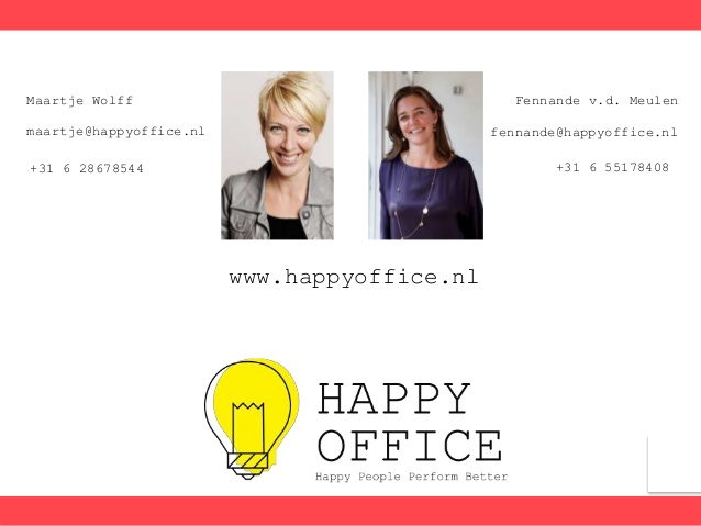 Happy Employees lead to Happier Customers and Better Business according to Maartje and Fennande